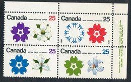 C- 180  Canada 1970 Scott# 508/11a** (cat.$15.) - 1952-.... Elizabeth II