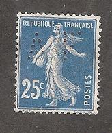 Perforé/perfin/lochung France No 140 AF Amieux Frères (71) - Perforés