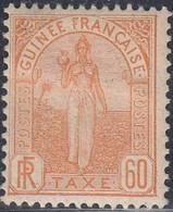 French Guinea, Scott #J6, Mint Hinged, Fulah Woman, Issued 1905 - Neufs