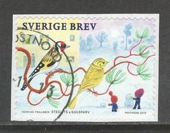 Zweden 2019, Yv  Kerstmis,   Op Papier,  Gestempeld - Suède