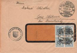 AB SBZ Brief MEF Mi.186 Viererstück Amtsgericht Born + SST. Bad Lausick 13.11.48 - Soviet Zone