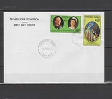 Mali 1977 Queen Elizabeth II Silver Jubilee Set Of 2 On FDC - Case Reali