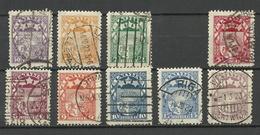 LETTLAND Latvia 1921/22 Michel 77 - 86 O (Mi 80 - 3 Sant. Is Missing/fehlt) - Lettland