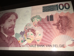 See Photos. Belgium 100 Francs Banknote 1995-2001 - [ 2] 1831-... : Royaume De Belgique