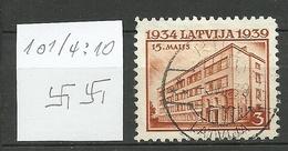 LETTLAND Latvia 1939 Michel 271 O Perf. 10 1/4: 10 WM Normal Horizontal - Lettland