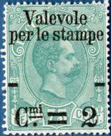 Italy Kingdom 1890, 2c Overprint On 75c 1 Value Unused No Gum  - 2004.0621 - Used