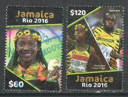 Jamaica 2016, Yv 1205 + 07,  Hoge Waarde,  Gestempeld - Jamaique (1962-...)
