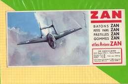 BUVARD & Blotting Paper   : ZAN  Avions DE HAVILLAND  VampireFMK3 - Sucreries & Gâteaux