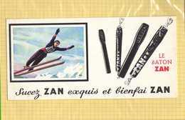 BUVARD  : Sucez ZAN  Ski - Sucreries & Gâteaux