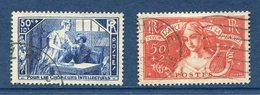 France - YT N° 307 Et 308 - Oblitéré - 1935 - Francia