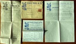 ERVANARIA GANDARA EM FLOR Bom Sucesso FIGUEIRA Da FOZ. Envelope Timbrado E Folhetos De Loja (Coimbra) PORTUGAL - Plakate