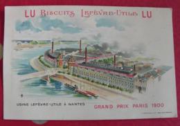 Chromo Petit-beurre LU Lefèvre-Utile. Chromo Image. 1900. Grand Prix Paris, Usine à Nantes - Lu