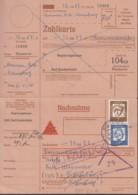 BRD  348 X, 355 X MiF Auf Nachnahmekarte, Mit Stempel Bad Gandersheim 22.5.1962, Zurück - Storia Postale