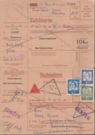 BRD  350 Y, 351 Y, 355 Y MiF Auf Nachnahmekarte, Mit Stempel Bad Gandersheim 4.9.1963, Zurück - Storia Postale