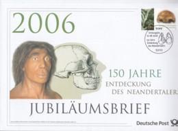 BRD  2553, Jubiläumsbrief, 150 Jahre Entdeckung Des Neandertalers, 2006 - Storia Postale