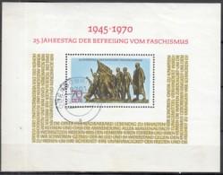 DDR  Block 32, Gestempelt, 25 Jahre Befreiung Vom Faschismus 1970 - DDR
