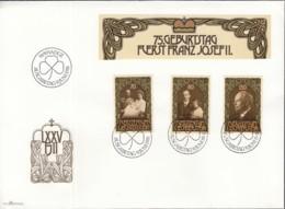 LIECHTENSTEIN  770-772, FDC, Blockmarken, 75. Geburtstag Fürst Franz Josef II., 1981 - FDC