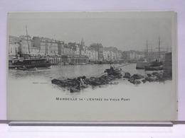 13 - MARSEILLE - L'ENTRÉE DU VIEUX PORT - ANIMÉE - LACOUR 34 - DOS SIMPLE - ETAT NEUF - Old Port, Saint Victor, Le Panier