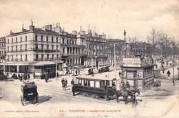 CPA    Toulouse (31) Carrefour Lafayette   Tramway à Chevaux   TBE   Labouche 28 - Toulouse
