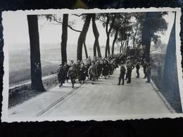 Photo ORIGINALE WWII WW2 : Prisonniers BELGES à NINOVE _ BELGIQUE - Guerre, Militaire