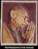 15ch Gandhi Famous Men 3-dimensional Plastic Mold. Mint Never Hinged. - Bhutan