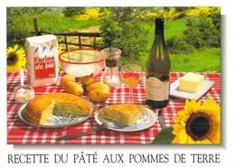 * Lot 3 CPM GF  ** RECETTES CUISINE Et METS Du BERRY (Cher Indre) Paté Pommes De Terre / Berrichon / Fromages De Chèvre - Recettes (cuisine)