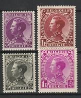 BELGIQUE 1934 YT N° 390 à 393 * - Belgique