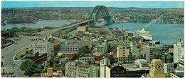 CPSM Australie. Sydney And The Harbour Bridge (a View Across The City), 1963 (format Long) - Australie