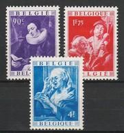 BELGIQUE 1949 YT N° 792 à 794 + 797 * - Unused Stamps