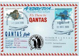 Vol Qantas Antarctica Flight 2005/2006 Cap Mal Stewart City Of Canberra - Briefe U. Dokumente