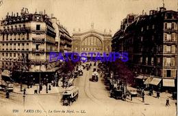 131960 FRANCE PARIS STATION TRAIN NORTH DAMAGED POSTAL POSTCARD - Francia