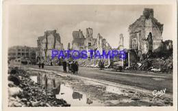 131961 FRANCE CAEN CALVADOS STREET OF VAUCELLES RUINS POSTAL POSTCARD - Francia