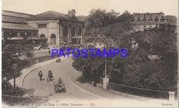 131963 FRANCE LYON  STATION TRAIN PERRACHE AND HOTEL TERMINUS POSTAL POSTCARD - Francia