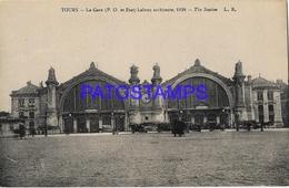 131965 FRANCE TOURS STATION TRAIN POSTAL POSTCARD - Francia