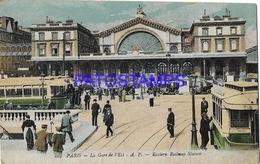 131968 FRANCE PARIS STATION TRAIN & TRAMWAY POSTAL POSTCARD - Francia