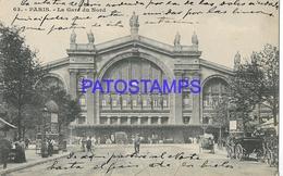 131971 FRANCE PARIS STATION TRAIN NORTH POSTAL POSTCARD - Francia