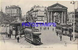 131977 FRANCE BORDEAUX SQUARE OF VICTORY & TRAMWAY POSTAL POSTCARD - Francia