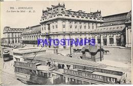 131978 FRANCE BORDEAUX STATION TRAIN & TRAMWAY POSTAL POSTCARD - Francia
