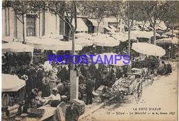 131979 FRANCE NICE COTE D'AZUR COSTUMES THE MARKET POSTAL POSTCARD - Francia