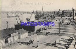 131981 FRANCE BORDEAUX THE DOCK SHIP & TRAMWAY POSTAL POSTCARD - Francia