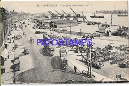 131982 FRANCE BORDEAUX THE DOCK SHIP & TRAMWAY POSTAL POSTCARD - Francia