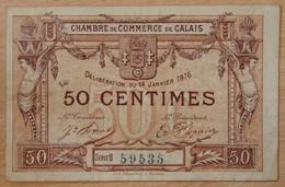 CALAIS ( 62  ) 50 Centimes Chambre De Commerce 14 JANVIER 1916 - Chambre De Commerce