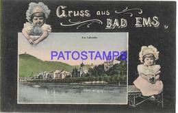 131986 GERMANY GRUSS AUS BAD EMS VIEW PARTIAL POSTAL POSTCARD - Non Classificati
