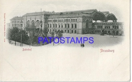 131987 FRANCE STRASSBURG STATION TRAIN POSTAL POSTCARD - Francia