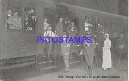 131991 FRANCE PASSAGE OF A STATION TRAIN OF BIG INJURIES POSTAL POSTCARD - Francia