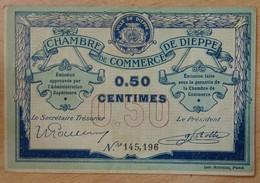 DIEPPE ( 76 - Seine-Inférieure) 50 Centimes Chambre De Commerce Non Daté - Chambre De Commerce