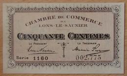 Lons Le Saunier ( 39 - Jura) 50 Centimes Chambre De Commerce 1920 - Chambre De Commerce