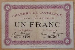 Lons Le Saunier ( 39 - Jura) 1 Franc Chambre De Commerce 1922 - Chambre De Commerce