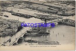 131998 FRANCE ROUENTHE BRIDGE CORNEILLE & STATION TRAIN SAINT SEVER  POSTAL POSTCARD - Francia