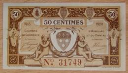 AURILLAC ( 15  ) 50 Centimes Chambre De Commerce 1915-1920 - Chambre De Commerce
